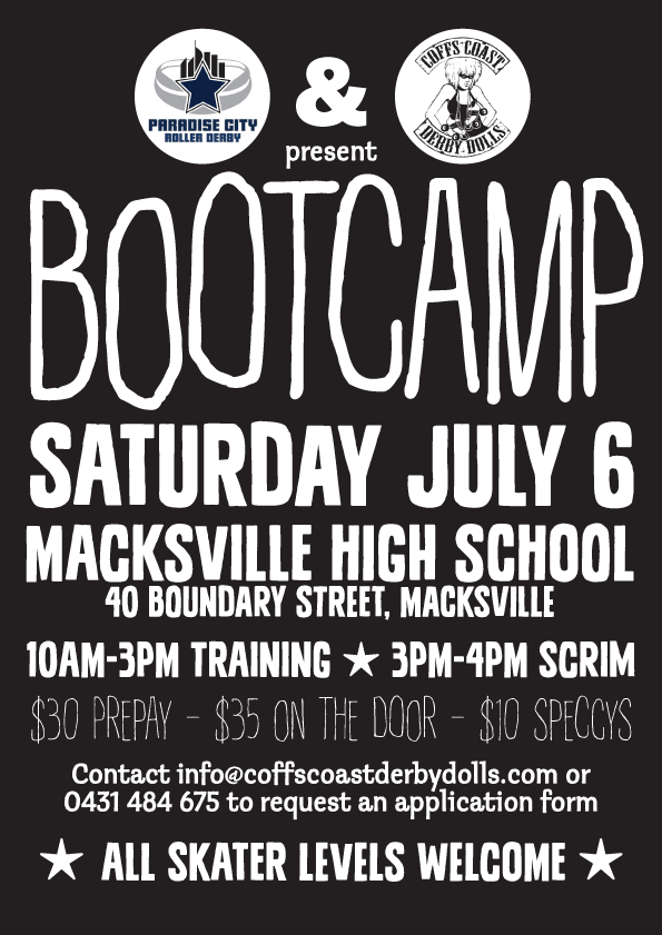 Paradise City and CCDD Boot camp collaboration, event poster