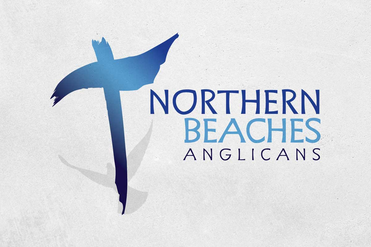 Northern Beaches Anglicans: Logo. Can you see the subtle 'extra'?