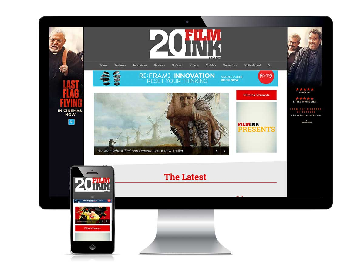 Film Ink Website and Mobile Responsive Screens